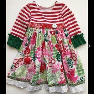 Laura Kae Designs Girls Sz 2 Christmas Dress